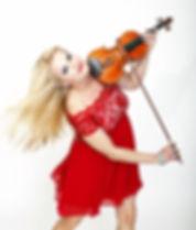 Geigerin, Violine mit Liveband oder DJ als Show-Act für Firmenfeier, Weihnachtsfeier, Empfang, Vernissage. Buchen Sie Ihre Liveband / Musikband für Ihre Feier