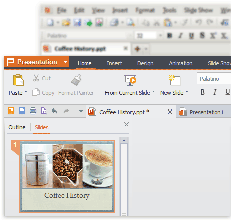 Kingsoft Office Presentation, WPS Office Presentation