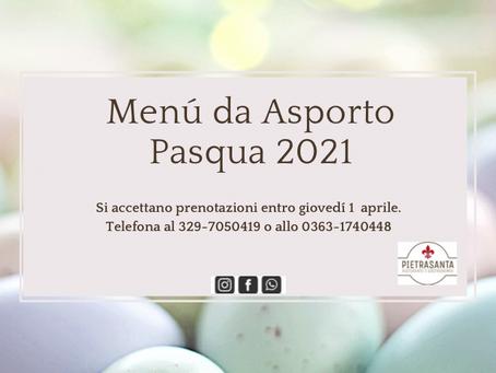 Scopri il menú di Pasqua 2021