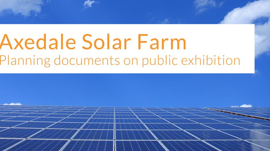 Axedale Solar Farm planning documents on public exhibition