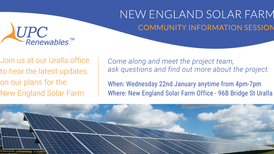 New England Solar Farm Community Information drop in session