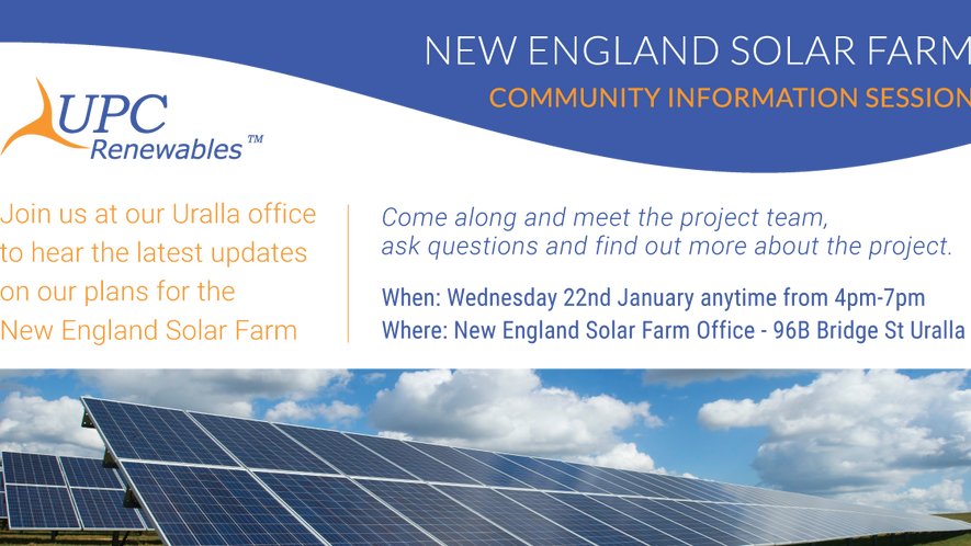 New England Solar Farm Community Information drop in session