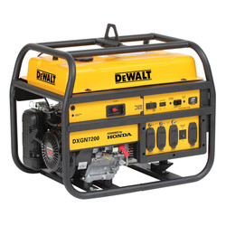 GXGN7200 DeWalt 7200 Watt Professional Generator Honda GX390 Gas Engine