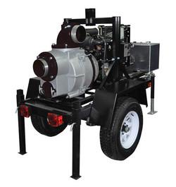 KTD150 - Koshin 6'' Trailer Mounted Trash Pump Yanmar Diesel Engine