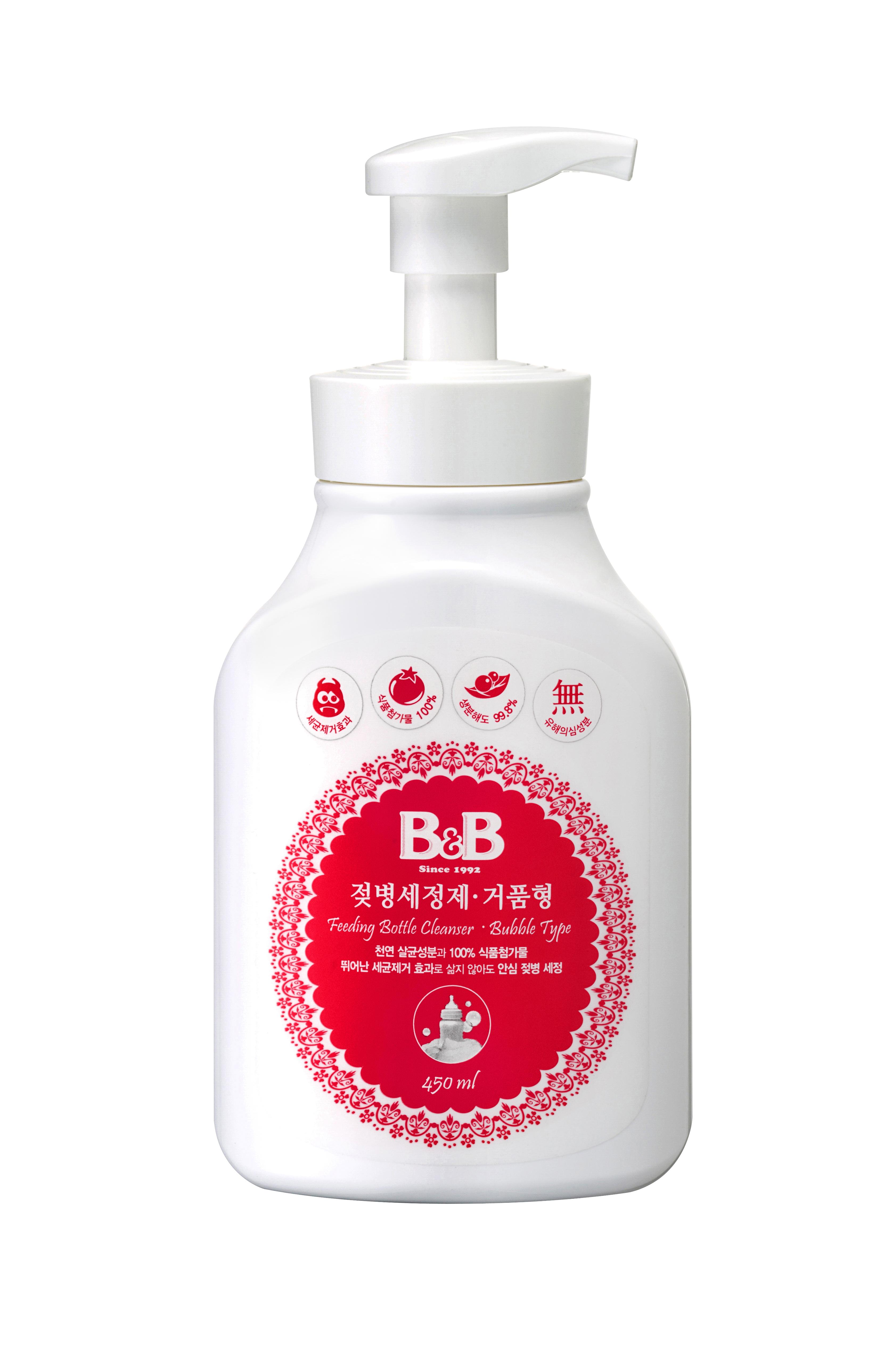 Feeding bottle cleanser bubble
