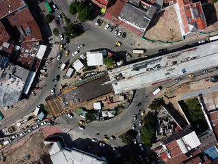 El intercambio vial de la avenida 80 con la calle Colombia alcanzó un 50 % de avance de obra