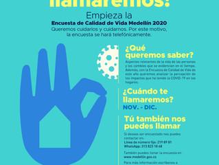 Alcaldía de Medellín realizará la Encuesta de Calidad de Vida 2020