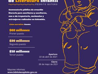 El Premio Nacional de Literatura Infantil Pedrito Botero abre sus inscripciones