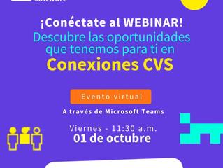 Conoce todos los detalles sobre los talleres y la convocatoria Conexiones CVS #ValledelSoftware
