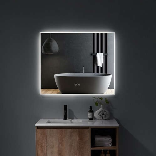 Matt Framed LED Mirror | Demister | 900*750