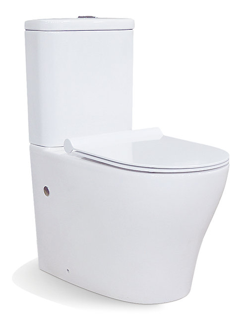 Tornado flush back to wall toilet suit soft closed seat cover powerful silent quiet design p/s trap dual cistern