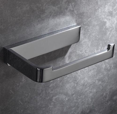 Chrome modern bathroom toilet roll holder