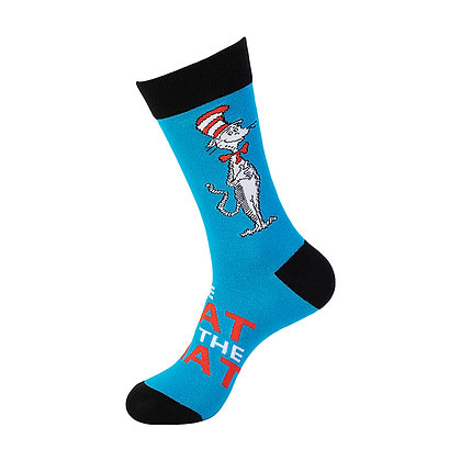 Funny Socks By Piña - Seuss Cat