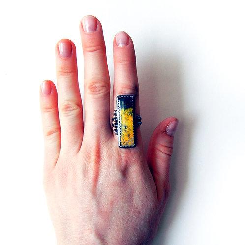 Bumblebee Jasper Ring - Size 7
