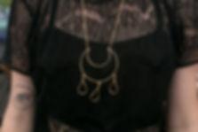 Moon & Teardrop necklace by Madeleine Fields Jewelry