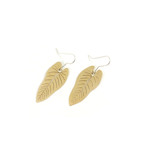 Philodendron Leaf Earring