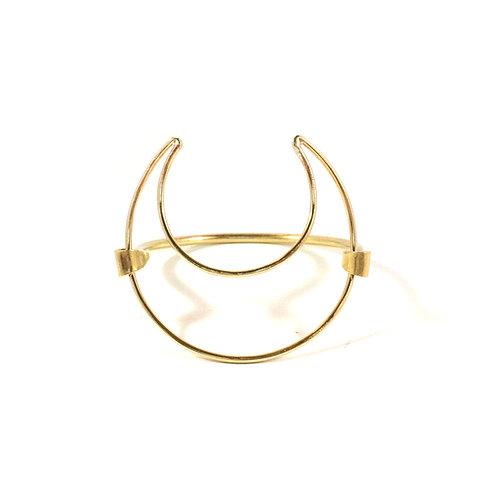 Brass Crescent Moon Cuff