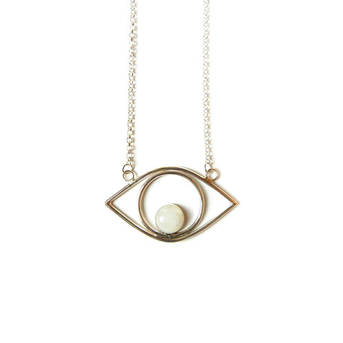 Gemstone Eye Pendant