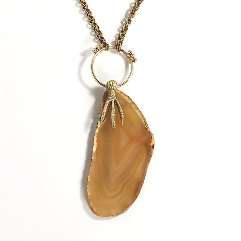 Claw & Agate Pendant III