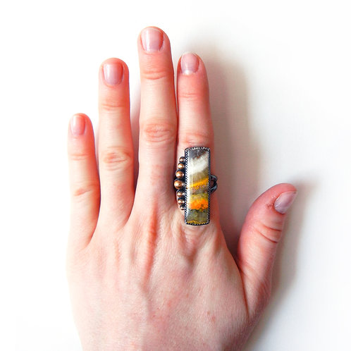 Bumblebee Jasper Ring - Size 6