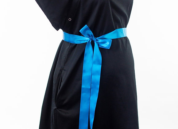 Black - Maternity Nursing & Delivery Gown
