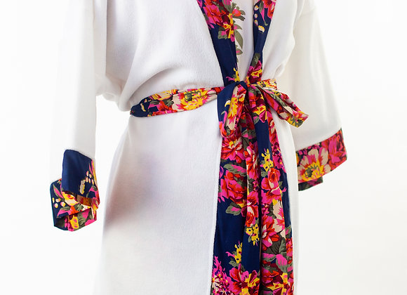 Floral Gown with Matching Kimono Robe Set