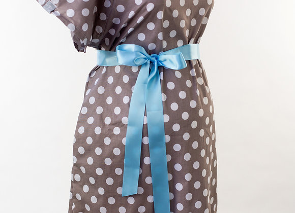 Gray Polka Dot – Maternity Nursing & Delivery Gown
