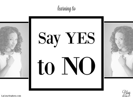 Say Yes to NO!