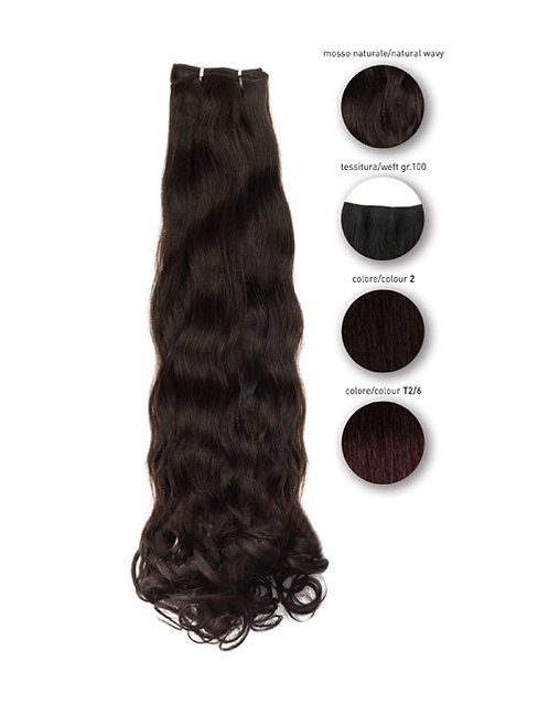 "She ""ebony"" Tahiti natural curly weft, 55 cmcol. 2"