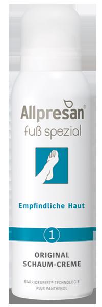 Fuß spezial Schaum-Creme No1 - empfindliche Haut,  125 ml