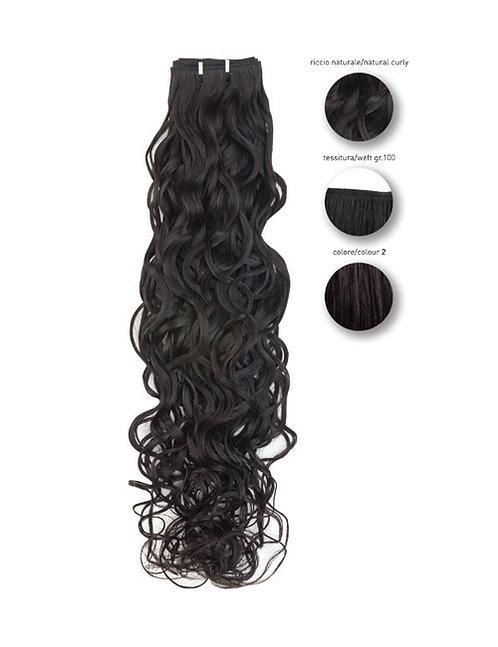 "She ""ebony"" Brasil natural wavy weft, 55 cm col. 2"