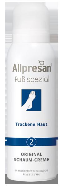 Fuß spezial Schaum-Creme No2 - Trockene Haut, 125 ml