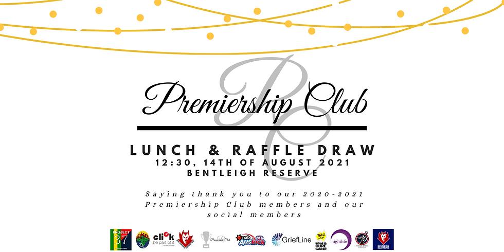 Premiership Club Lunch & Raffle Draw