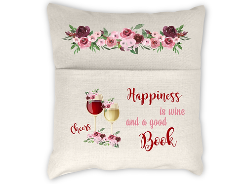 HAPPINESS IS WINE AND A GOOD BOOK