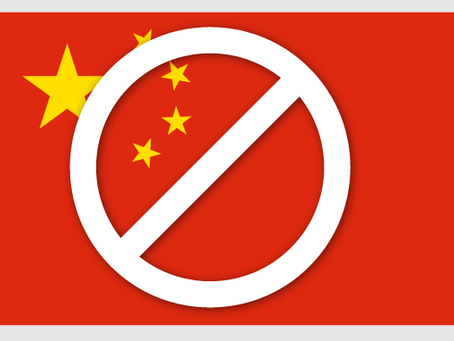 No Shipping or Sales in China after Feb. 28, 2019