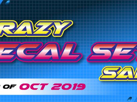 "Crazy ""Decal Set"" Sale"