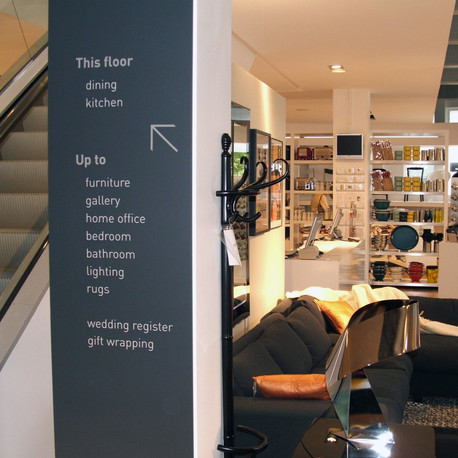 In-store wayfinding created for the new store.