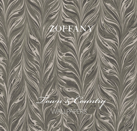 Zoffany Town & Country pattern book cover was inspired by one of the wallpaper designs of the collection. This was created by converting and simplifying the separations of the original CAD design. It was printed in two metallic inks and finished with a matt laminated and UV gloss spot.