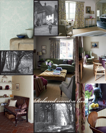 For the second pattern book flysheet, a selection of 'town' lifestyle images along with selected collection images, along with collection graphics were used  to convey the feel of the collection.