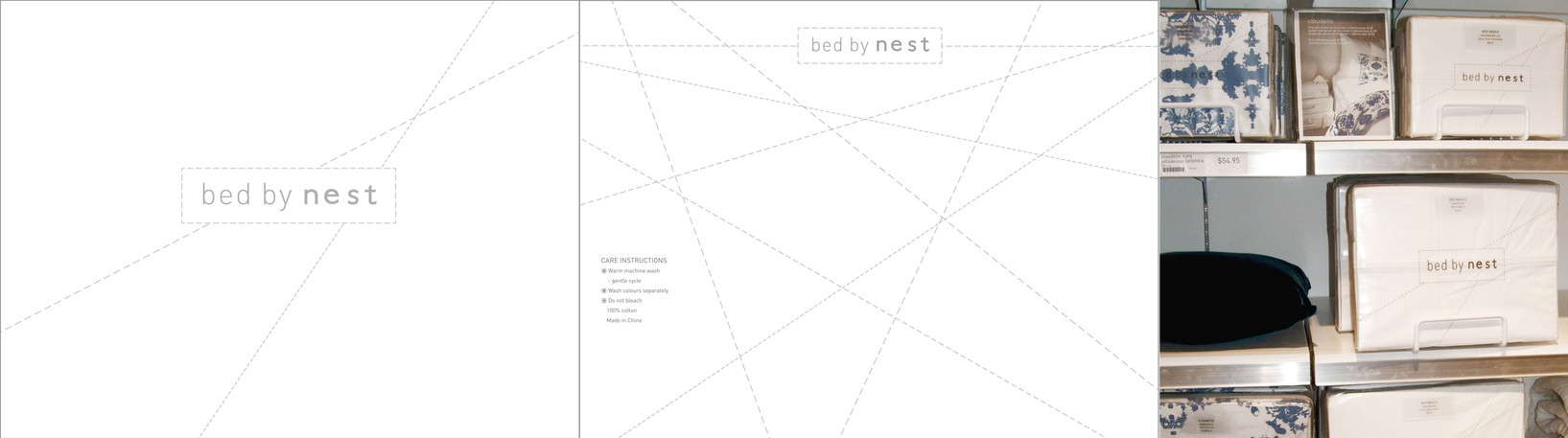 New packaging created for the Nest bedlinen packaging.