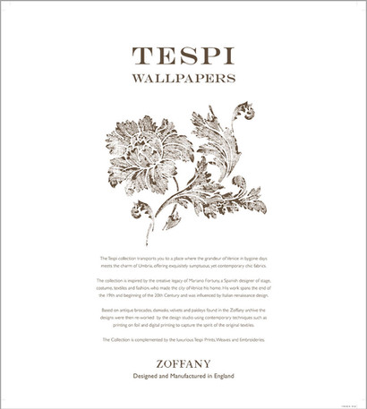 The IFC of the Zoffany Town & Country wallpaper pattern book.