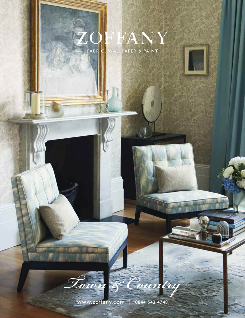 Zoffany Town & Country press advert showcasing the 'town' theme.