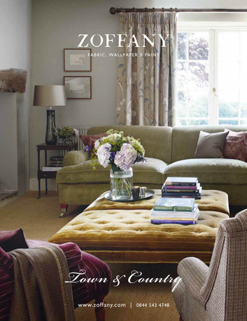 Zoffany Town & Country press advert showcasing the 'country' theme.