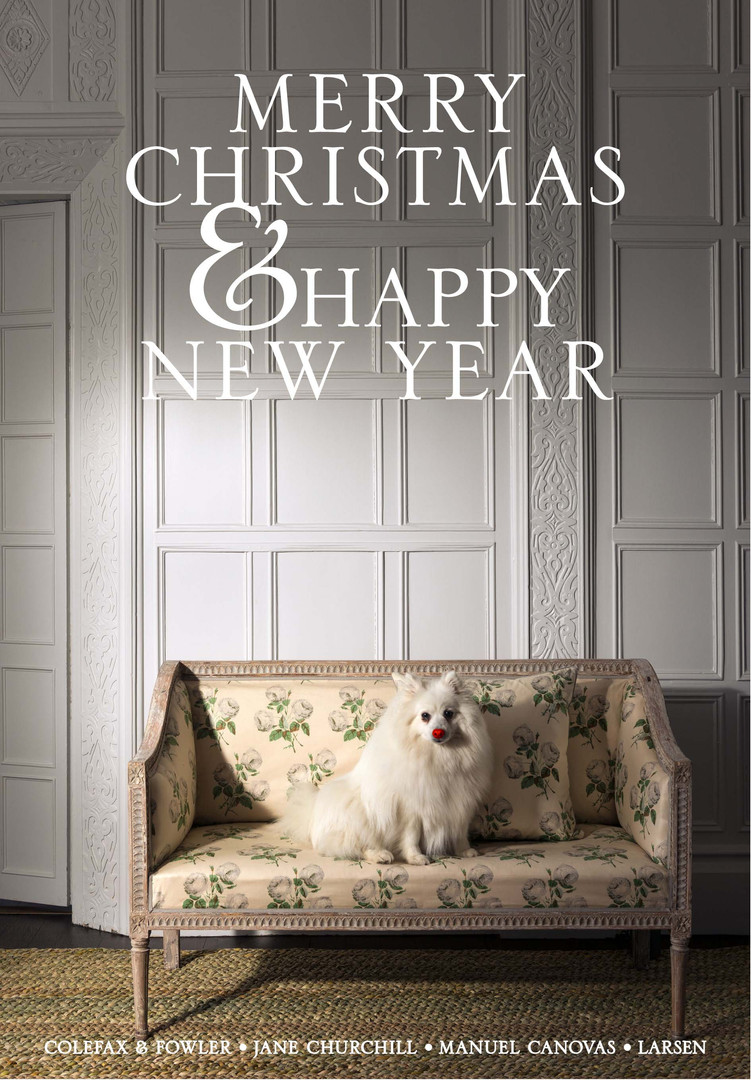The Colefax and Fowler Christmas card for 2018 is an understated nod to the festive season. Responsible for the concept, typography, image selection, retouching and html.