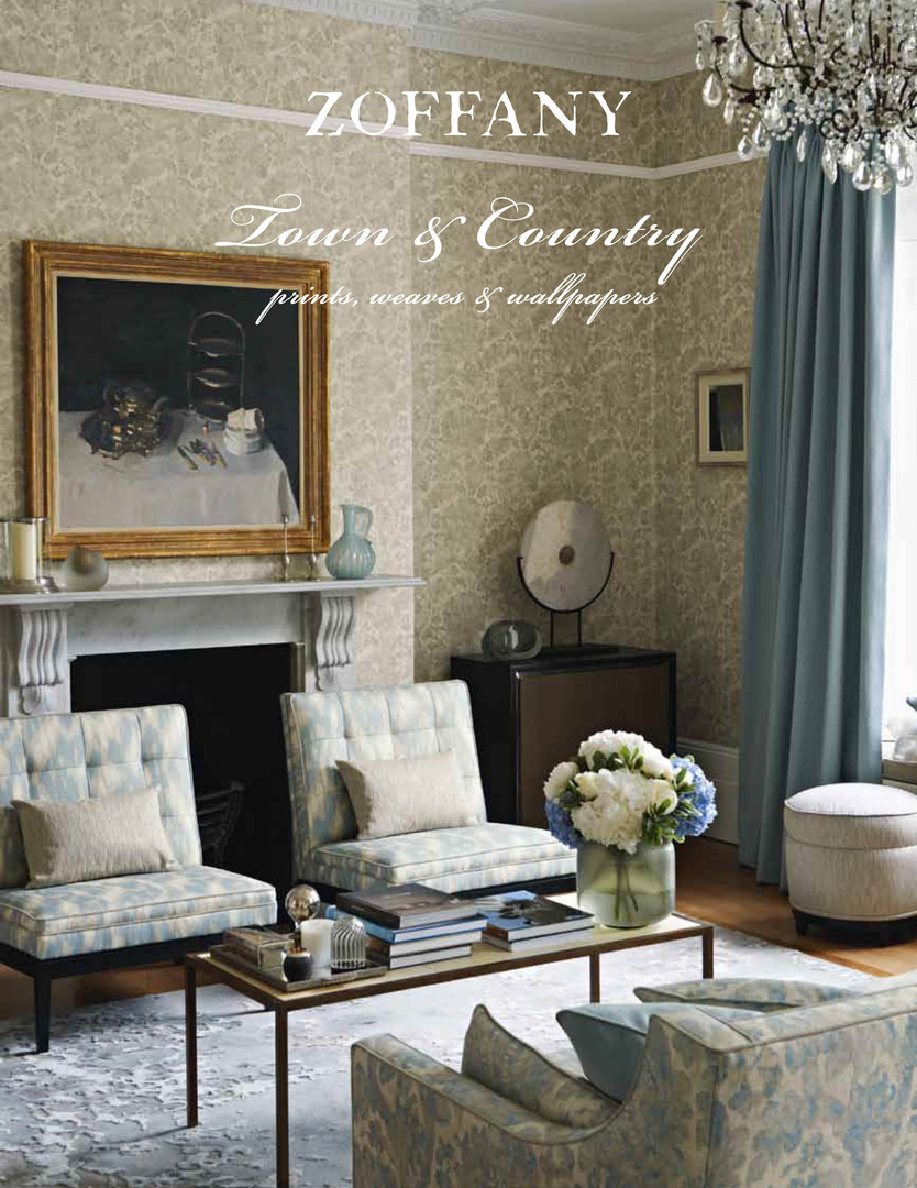 Zoffany Town & Country brochure. Within the brochure collection photography takes centre stage but additional lifestyle images and collection graphics were used to convey the 'story'. Premium paper stock was carefully selected along with speciality finishes includingsoft touch lamination on the cover.