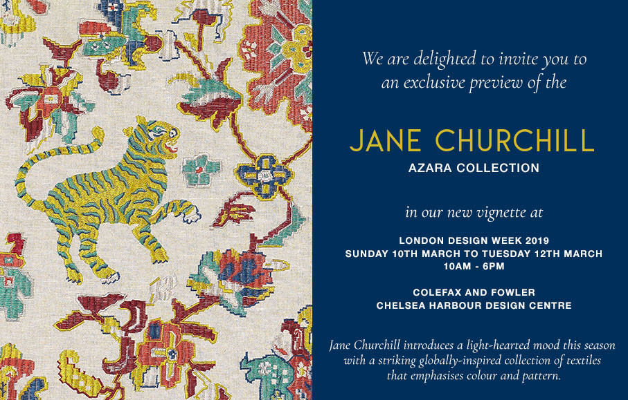 The Jane Churchill invitation was sent out to press and trade customers for the new collection launch at London Design Week. Responsible for the design and coding.