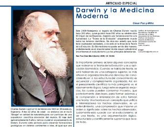 Darwin y la Medicina Moderna