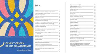 LIBRO: GENES Y ORIGEN DE LOS ECUATORIANOS