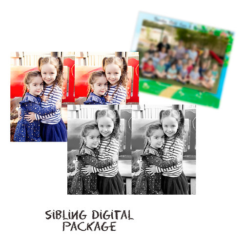 Digital Package - Siblings Two Children (4 images + 2 group)