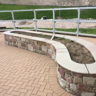 Stone Wall with Capping
